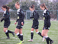 Aalst players pictured during a friendly female soccer game between SC Eendracht Aalst and Club Brugge YLA on Saturday 16 January 2021 at Zandberg Youth Complex in Aalst , Belgium . PHOTO SPORTPIX.BE   SPP   SEVIL OKTEM