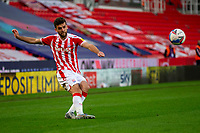 21st April 2021; Bet365 Stadium, Stoke, Staffordshire, England; English Football League Championship Football, Stoke City versus Coventry; Tommy Smith of Stoke City crosses the ball into the Coventry box