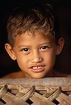 Polynesian boy, Bora Bora, French Polynesia