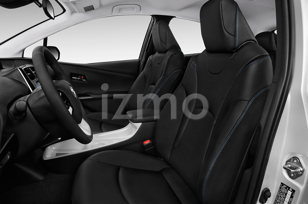 Front seat view of a 2018 Toyota Prius lounge 5 Door Hatchback front seat car photos
