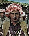 Iraq 1963 .Portrait of a peshmerga.Irak 1963.Portrait d'un peshmerga