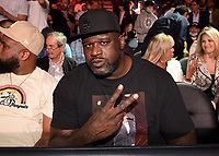 LAS VEGAS, NV - OCTOBER 9: Shaquille O'Neal at the Fox Sports PBC pay-per-view Fury vs Wilder III fight night at T-Mobile Arena on October 9, 2021 in Las Vegas, Nevada.  (Photo by Frank Micelotta/Fox Sports/PictureGroup)