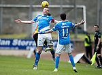 St Johnstone v Partick Thistle…13.05.17     SPFL    McDiarmid Park<br />Brian Easton is fouled by Kris Doolan<br />Picture by Graeme Hart.<br />Copyright Perthshire Picture Agency<br />Tel: 01738 623350  Mobile: 07990 594431