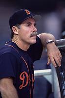 Detroit Tigers Manager Phil Garner during a 2000 season MLB game at Angel Stadium in Anaheim, California. (Larry Goren/Four Seam Images)