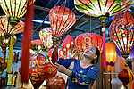 Lantern making factory in Hoi An by Ly Hoang Long