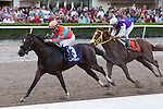 January 02, 2016: Awesome Speed with Joel Rosario up all alone at the wire in the Mucho Macho Man Stakes for 3 year olds at Gulfstream Park. Gulfstream Park, Hallandale Beach (FL). Arron Haggart/ESW/CSM