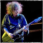 Robert Smith of the Cure rolls into his encore on Coachella's main stage at the Empire Polo Field, Sunday May 2, 2004