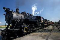 AJ2993, locomotive, train, engine, Strasburg Rail Road Company, excursion train, Lancaster County, Pennsylvania, Steam locomotive pulls the passenger train through the Amish Country in Strasburg in Pennsylvania Dutch Country in the state of Pennsylvania.