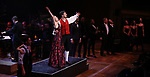 """Laura Osnes and Tony Yazbeck with cast performing during the MCP Production of """"The Scarlet Pimpernel"""" Concert at the David Geffen Hall on February 18, 2019 in New York City."""