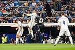 Real Madrid Carlos Henrique Casemiro and Deportivo de la Coruña Ryan Babel during La Liga match between Real Madrid and Deportivo de la Coruña at Santiago Bernabeu Stadium in Madrid, Spain. December 10, 2016. (ALTERPHOTOS/BorjaB.Hojas)