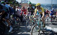 Tom Leezer (NLD/LottoNL-Jumbo) up the infamous Mur de Huy (1300m/9.8%)<br /> <br /> 79th Flèche Wallonne 2015
