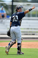 GCL Yankees 2 catcher Luis Torrens (30) during a game against the GCL Phillies on July 22, 2013 at Carpenter Complex in Clearwater, Florida.  GCL Yankees defeated the GCL Phillies 2-1.  (Mike Janes/Four Seam Images)