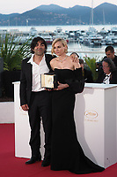 Diane Kruger (R) winner of the award for best actress for her part in the movie 'In The Fade' (Aus Dem Nichts) and director Fatih Akin<br /> Winner's Photocall<br /> Festival de Cannes 2017