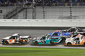 #4: Raphael Lessard, Kyle Busch Motorsports, Toyota Tundra JBL, #13: Johnny Sauter, ThorSport Racing, Ford F-150 Tenda