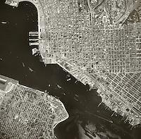 historical aerial photograph San Diego, California, 1949