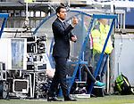 Nederland, Heerenveen, 21 mei 2015<br /> Seizoen 2014-2015<br /> SC Heerenveen-Feyenoord<br /> Giovanni van Bronckhorst steekt zijn duim op bij zijn debuut als trainer van Feyenoord