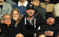 Pictured: Swansea supporters Monday 13 March 2017<br /> Re: Premier League 2, Swansea City U23 v Wolverhampton Wanderers FC at the Liberty Stadium, Swansea, UK