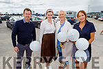 Michael Kelly, Grace Keane Loughran, Clare Loughran Murphy and Deirdre Loughran supporting the Maurice McCrohan Memorial Balloon Fundraiser in Ballyheigue on Monday, for the Kerry Palliative Care Unit.