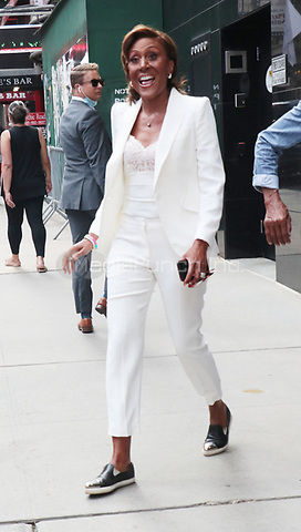 NEW YORK, NY- July 27: Robin Roberts seen exiting ABC studios after appearing on Live with Kelly & Ryan in New York City on July 27, 2021. Credit: RW/MediaPunch