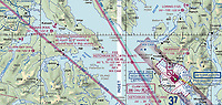 This NOAA FAA aviation sectional chart shows the location of the six seaplane bases at or near Ketichikan International airport (KTN) including Kaasan (KXA), Clark Bay (HYL) and Loring Bay (13Z), Ketchican, Ketchican Gateway Borough, Alaska