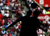 Football, Duesseldorf , Germany , 2. Bundesliga , 33.  match day,  Fortuna Duesseldorf  vs. Holstein Kiel  1-1  in Esprit -Arena, header, <br /><br /> *** Local Caption *** © pixathlon<br /> Contact: +49-40-22 63 02 60 , info@pixathlon.de