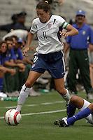 Julie Foudy.US Women's National Team vs Brazil at Legion Field in Birmingham, Alabama.