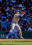 22 June 2019: Toronto Blue Jays second baseman Cavan Biggio at bat in the second inning against the Boston Red Sox at Fenway :Park in Boston, MA. The Blue Jays rallied to defeat the Red Sox 8-7 in the 2nd game of their 3-game series. Mandatory Credit: Ed Wolfstein Photo *** RAW (NEF) Image File Available ***