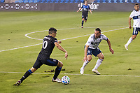 SAN JOSE, CA - OCTOBER 07: Cristian Espinoza #10 of San Jose Earthquakes during a game between Vancouver Whitecaps and San Jose Earthquakes at Earthquakes Stadium on October 07, 2020 in San Jose, California.