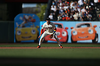 SAN FRANCISCO, CA - JUNE 5: Evan Longoria #10 of the San Francisco Giants plays defense at third base against the Chicago Cubs during the game at Oracle Park on Saturday, June 5, 2021 in San Francisco, California. (Photo by Brad Mangin)
