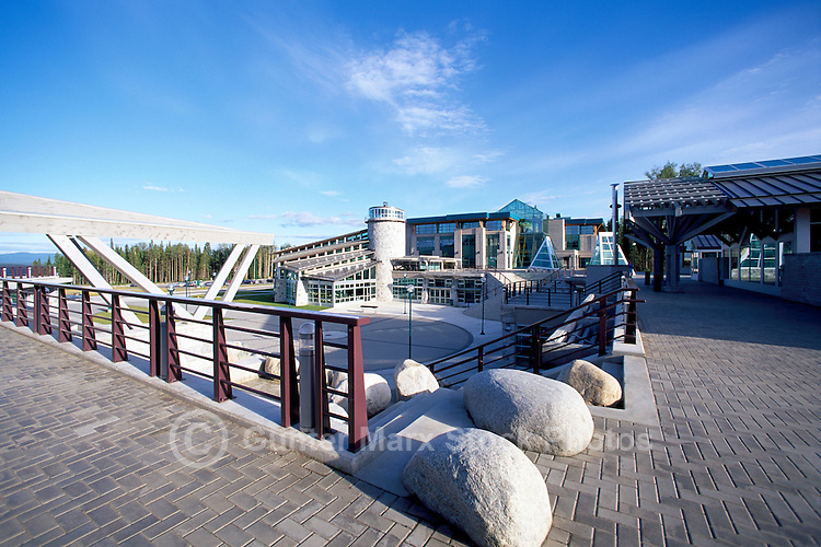 Prince George, BC, British Columbia, Canada - University of Northern British Columbia (UNBC), The Agora Courtyard, Cafeteria, and Administration Buildings