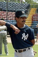 New York Yankees Alvaro Espinoza during spring training circa 1989 at Holman Stadium in Vero Beach, Florida.  (MJA/Four Seam Images)