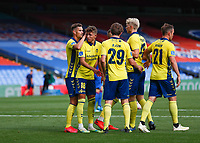 5th September 2020; Selhurst Park, London, England; Pre Season Friendly Football, Crystal Palace versus Brondby; Jesper Lindstrom of Brondby celebrates with his team mates after scoring his sides 1st goal in the 70th minute to make it 1-1