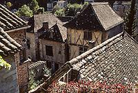 Europe/France/Midi-Pyrénées/46/Lot/Vallée du Lot/Saint-Cirq-Lapopie: Le village médiéval<br /> PHOTO D'ARCHIVES // ARCHIVAL IMAGES<br /> FRANCE 1990