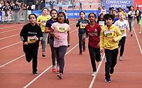 Nederland - Amsterdam - 2019 . De Marathon van Amsterdam. De Kids Run.      Foto mag niet in negatieve / schadelijke context gepubliceerd worden.     Foto Berlinda van Dam / Hollandse Hoogte