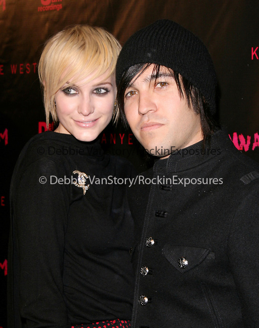 Ashlee Simpson Wentz and Pete Wentz at The short film preview of Kanye West's Film Debut ,Runaway held at Harmony Gold Preview House  in Hollywood, California on October 18,2010                                                                               © 2010 Hollywood Press Agency