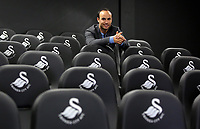Pictured: American football player Landon Donovan Tuesday 04 April 2017<br /> Re: Official opening of the Fairwood Training Complex of Swansea City FC, Wales, UK