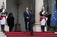 France. Paris (75)- CÈrÈmonie d'installation de M. Emmanuel Macron, PrÈsident de la RÈpublique au Palais de l'ElysÈe
