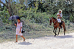 Man With Child On Horse With Woman