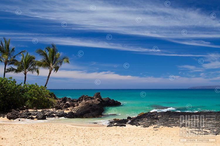Clouds at Secret Beach, Makena, Maui.