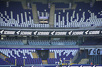 Illustrative photo of the Scooore banners taken before  a female soccer game between RSC Anderlecht Dames and Standard Femina De Liege on the third matchday of play off 1 of the 2020 - 2021 season of Belgian Womens Super League , saturday 24 th of April 2021  in Brussels , Belgium . PHOTO SPORTPIX.BE | SPP | SEVIL OKTEM