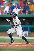 Cedar Rapids Kernels outfielder Edgar Corcino (36) at bat during a game against the South Bend Cubs on June 5, 2015 at Four Winds Field in South Bend, Indiana.  South Bend defeated Cedar Rapids 9-4.  (Mike Janes/Four Seam Images)
