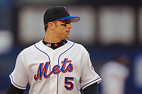 3 April 2006: David Wright, infielder for the New York Mets, looks toward home during Opening Day play against the Washington Nationals at Shea Stadium, in Flushing, New York. The Mets defeated the Nationals 3-2 to lead off the 2006 MLB season...Mandatory Photo Credit: Ed Wolfstein Photo..