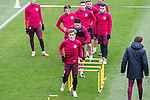 Atletico de Madrid's Antoine Griezmann , Filipe Luis,  Kevin Gameiro , Angel Correa during the official training of Atletico de Madrid  before the Champions League match between Atletico de Madrid and PSV Eindhoven at Cerro del Espino in Madrid , Spain. November 22, 2016. (ALTERPHOTOS/Rodrigo Jimenez)