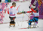 Sochi, RUSSIA - Mar 16 2014 - Christopher Klebl competes in Cross Country Skiing Men's 10km Sitting at the 2014 Paralympic Winter Games in Sochi, Russia.  (Photo: Matthew Murnaghan/Canadian Paralympic Committee)