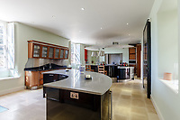 BNPS.co.uk (01202) 558833. <br /> Pic: Strutt&Parker/BNPS<br /> <br /> Pictured: Kitchen. <br /> <br /> A grand Georgian manor where writer Evelyn Waugh lived and died is on the market for £5.5m.<br /> <br /> The author of Vile Bodies, Brideshead Revisited and Sword of Honour bought Combe Florey House in Somerset in 1956 and his family lived there until 2008 when they sold it to the current owners.<br /> <br /> In Waugh's day the house was often filled with his glamorous and clever guests like poet John Betjeman, actors Peter Cook and Alec Guinness and writers Salman Rushdie and Muriel Spark.<br /> <br /> The 12-bedroom house has had a makeover since Waugh's day and quirky style and is now a light-filled spacious family home with a party barn, swimming pool and 34 acres.