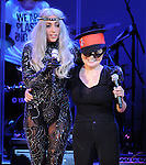 Yoko Ono and Lady Gaga perform at We are Plastic Ono Band on night 2 at The Orpheum Theatre in Downtown Los Angeles, California on October 02,2010                                                                   Copyright 2010  Debbie VanStory / RockinExposures