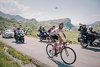 Polka Dot Jersey / KOM leader Julian Alaphilippe (FRA/Quick-Step Floors) up the Comet de Roselend<br /> <br /> Stage 11: Albertville > La Rosière / Espace San Bernardo (108km)<br /> <br /> 105th Tour de France 2018<br /> ©kramon
