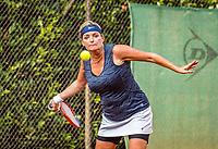 Hilversum, The Netherlands,  August 20, 2021,  Tulip Tennis Center, NKS, National Senior Tennis Championships, Women's doubles 50 + : Carole Beelen (NED) <br /> Photo: Tennisimages/Henk Koster
