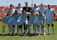10 July 2010: The Colorado Rapids starting eleven during a game between the Colorado Rapids and Toronto FC at BMO Field in Toronto..Toronto FC won 1-0.