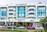 France, Provence-Alpes-Côte d'Azur, Cannes: 5-Stars luxury hotel JW Marriott Cannes on Boulevard de la Croisette | Frankreich, Provence-Alpes-Côte d'Azur, Cannes: das 5-Sterne Luxushotel JW Marriott Cannes auf dem Boulevard de la Croisette